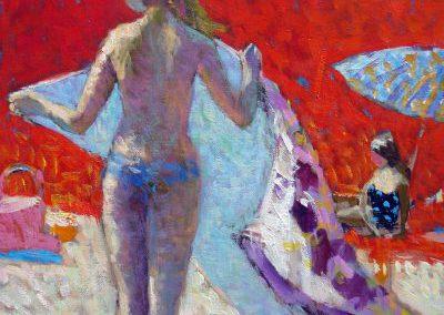Jeune fille à la serviette