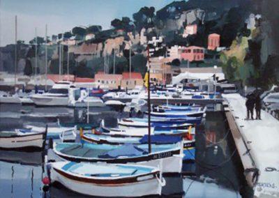 Bateaux au port à Villefranche