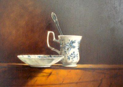 Goblet en porcelaine