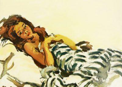 Jeune fille allongée 1960
