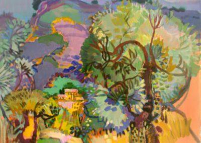 Paysage aux oliviers