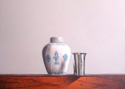 Vase de Chine et gobelet